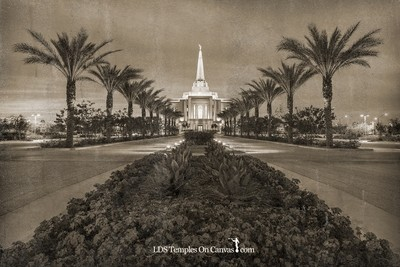 Gilbert Arizona LDS Temple - Heavenly Path - Rustic