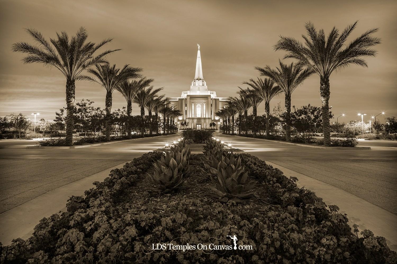 Gilbert Arizona LDS Temple - Heavenly Path - Sepia