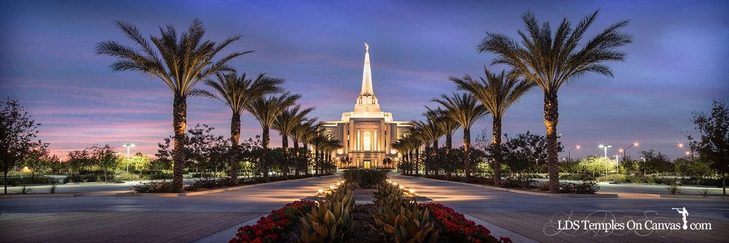 Gilbert Arizona LDS Temple - Heavenly Path - Color - Panoramic