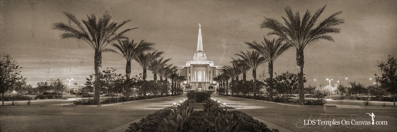 Gilbert Arizona LDS Temple - Heavenly Path - Rustic - Panoramic