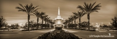 Gilbert Arizona LDS Temple - Heavenly Path - Sepia - Panoramic