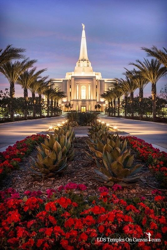 Gilbert Arizona LDS Temple - Heavenly Path - Vertical - Color