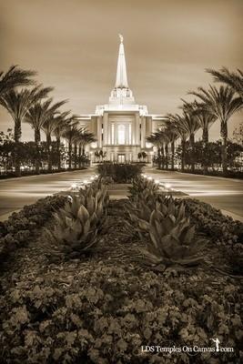 Gilbert Arizona LDS Temple - Heavenly Path - Vertical - Sepia