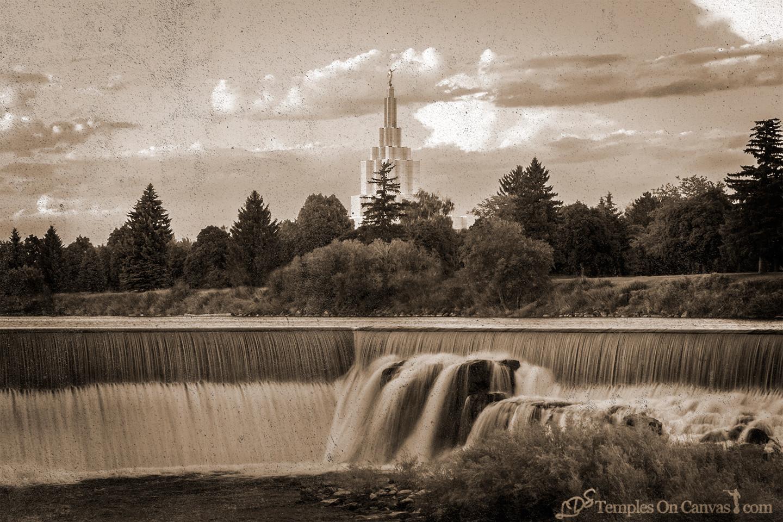 Idaho Falls ID Temple Art - Living Waters - Rustic