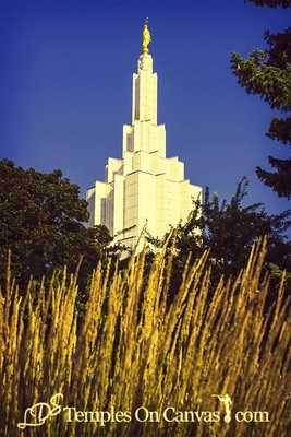 Idaho Falls Idaho Temple Art - Beacon of Light - Vintage