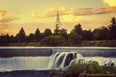 Idaho Falls ID Temple Art - Living Waters - Vintage