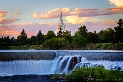 Idaho Falls ID Temple Art - Living Waters