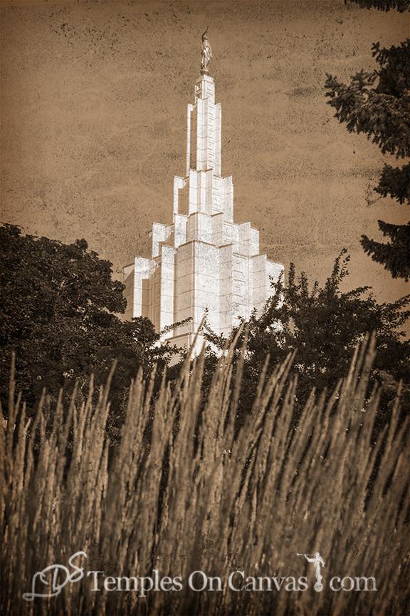 Idaho Falls Idaho Temple Art - Beacon of Light - Rustic