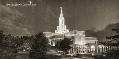 Bountiful Utah LDS Temple - Eventide - Rustic