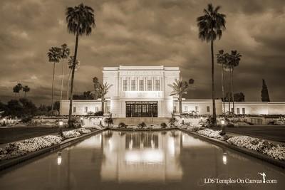 Mesa Arizona LDS Temple - Tempest - Sepia