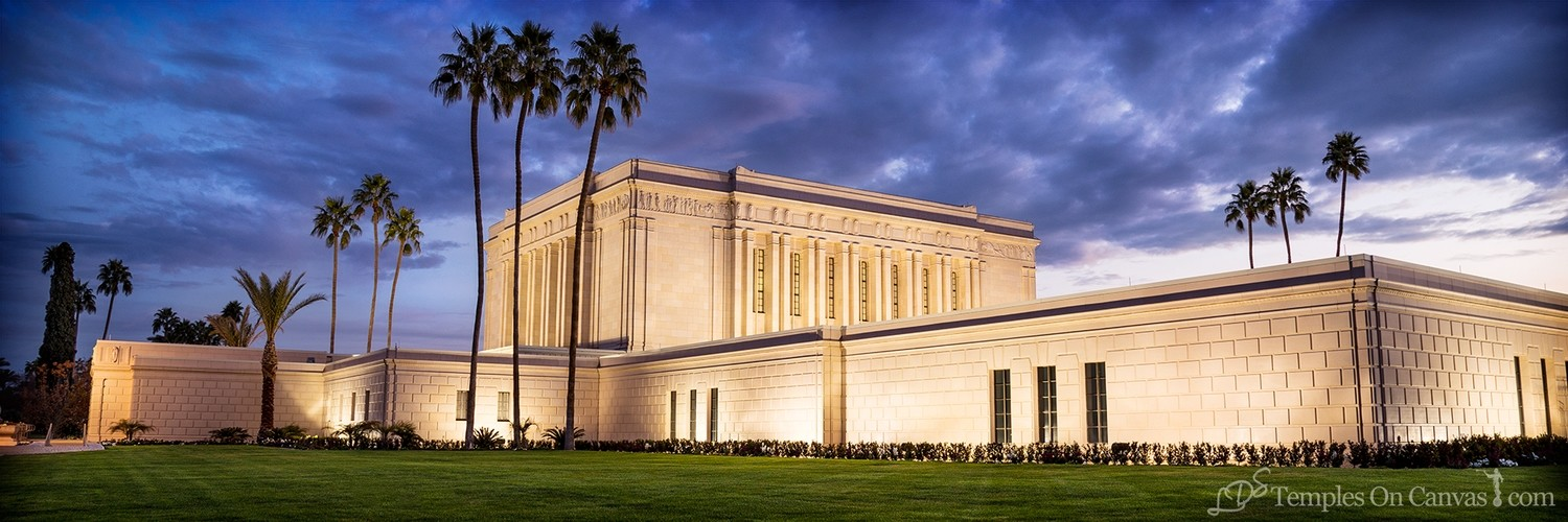 Mesa Arizona LDS Temple - Pioneer Temple - Color - Panoramic