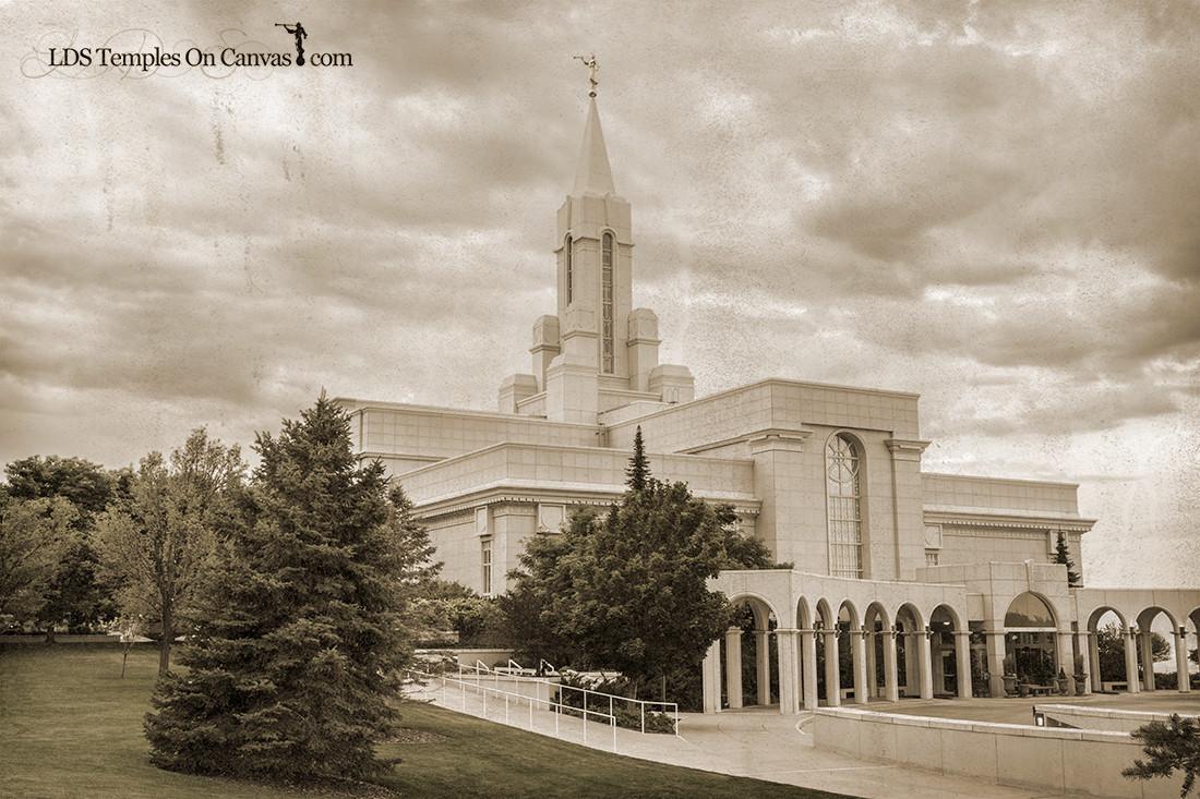 Bountiful Utah LDS Temple - Heavenward- Rustic