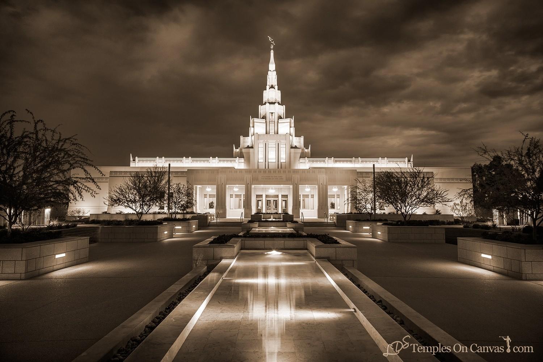 Phoenix AZ LDS Temple - Tempest - Sepia Print