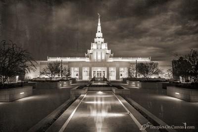 Phoenix AZ LDS Temple - Tempest - Rustic Print