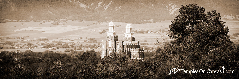 Logan UT LDS Temple - Ensign of Faith - Sepia