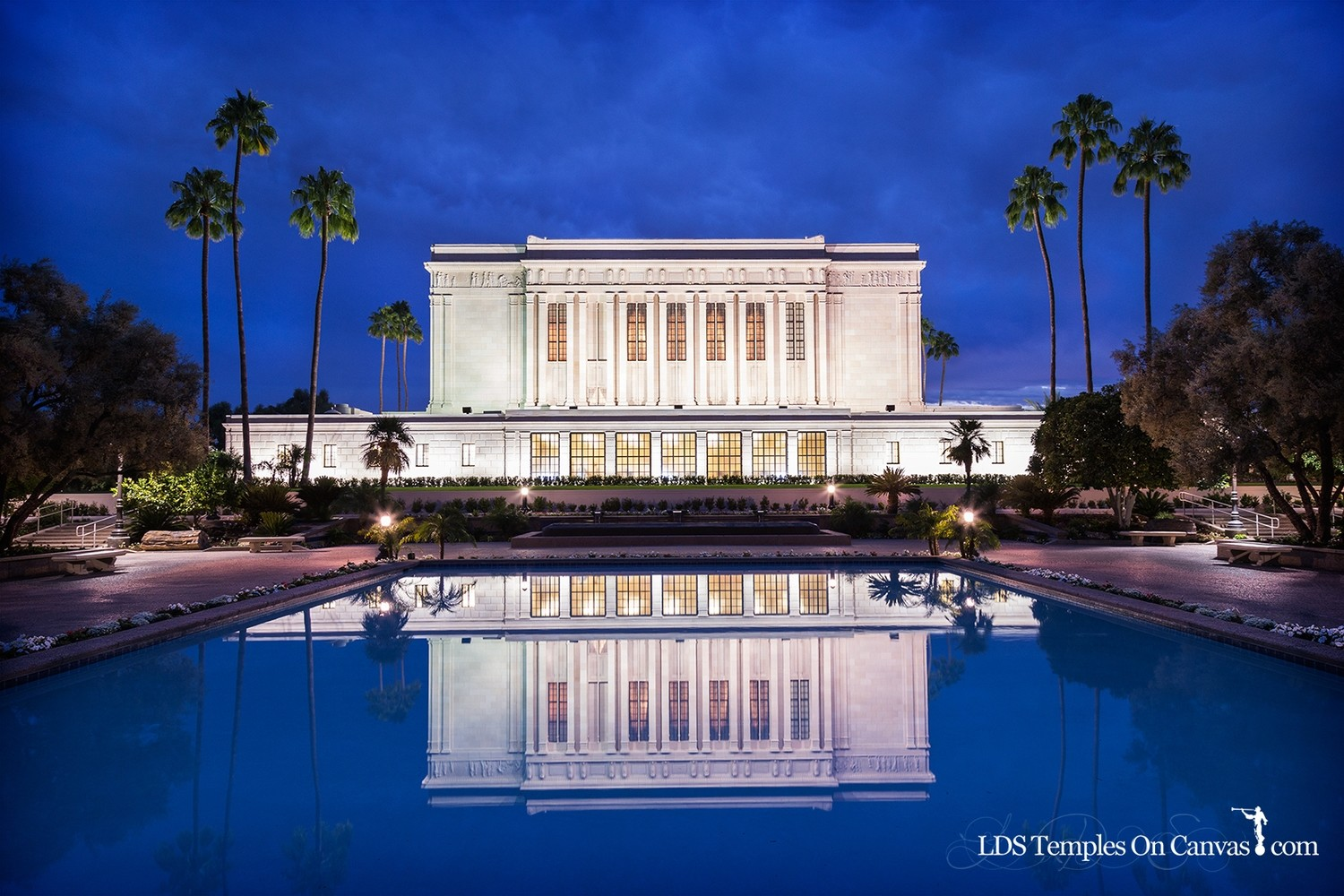 Mesa Arizona LDS Temple - Pioneer Reflections - Color