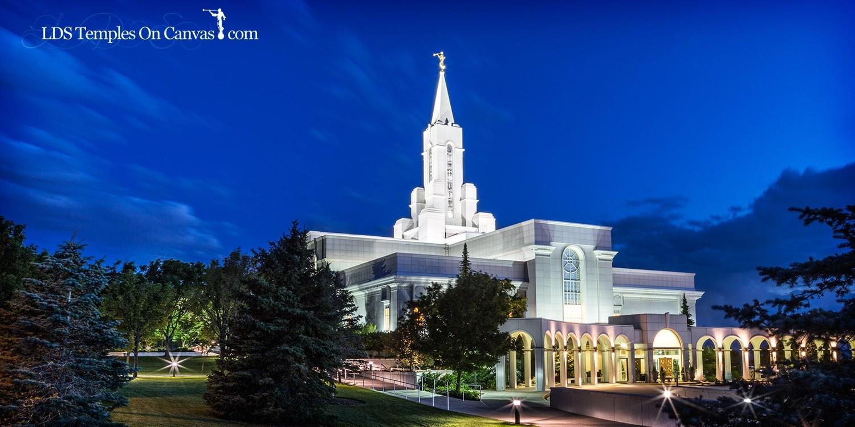 Bountiful Utah LDS Temple - Eventide - Full Color