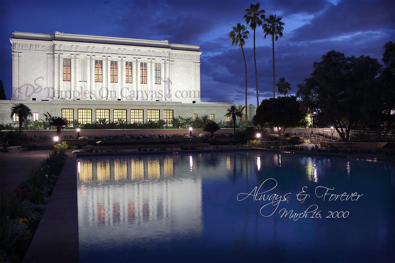 Mesa Arizona LDS Temple - Dusk Reflection - Color