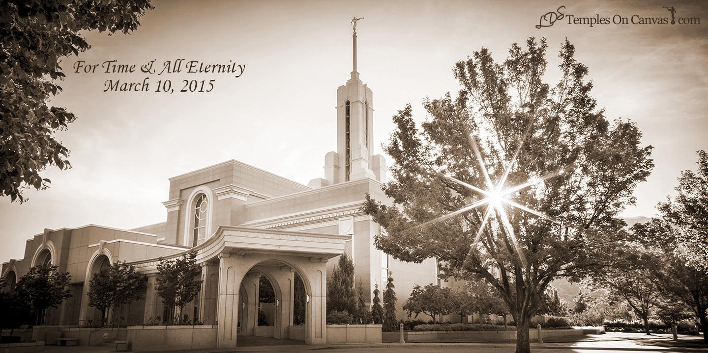 Timpanogas Utah LDS Temple - Summer Sunbeam - Sepia Print