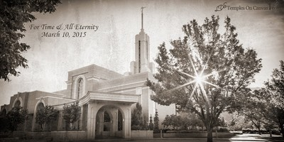 Timpanogas Utah LDS Temple - Summer Sunbeam - Rustic Print
