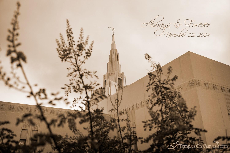Phoenix AZ LDS Temple - Desert Blossom - Sepia Print