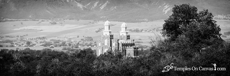 Logan UT LDS Temple - Ensign of Faith - Black & White