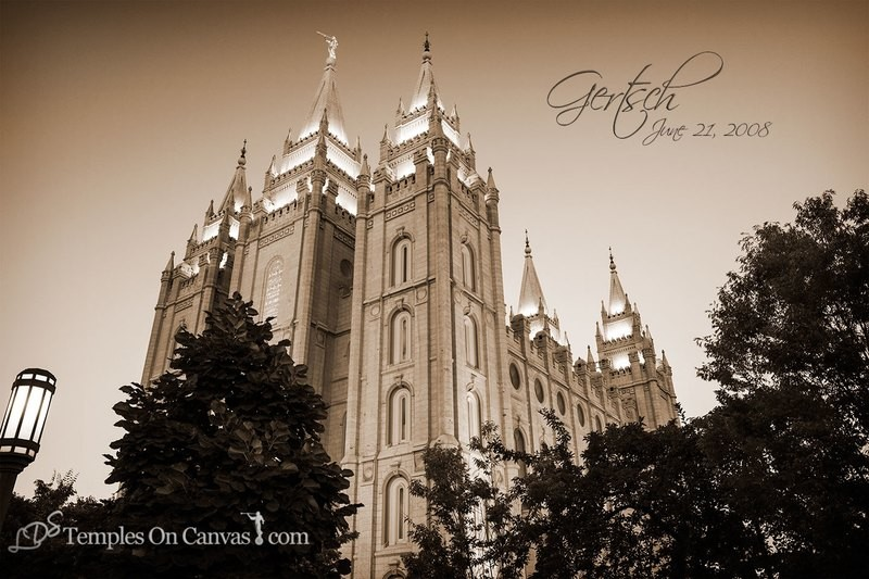 Salt Lake City UT Temple Art - Out of Obscurity - Sepia