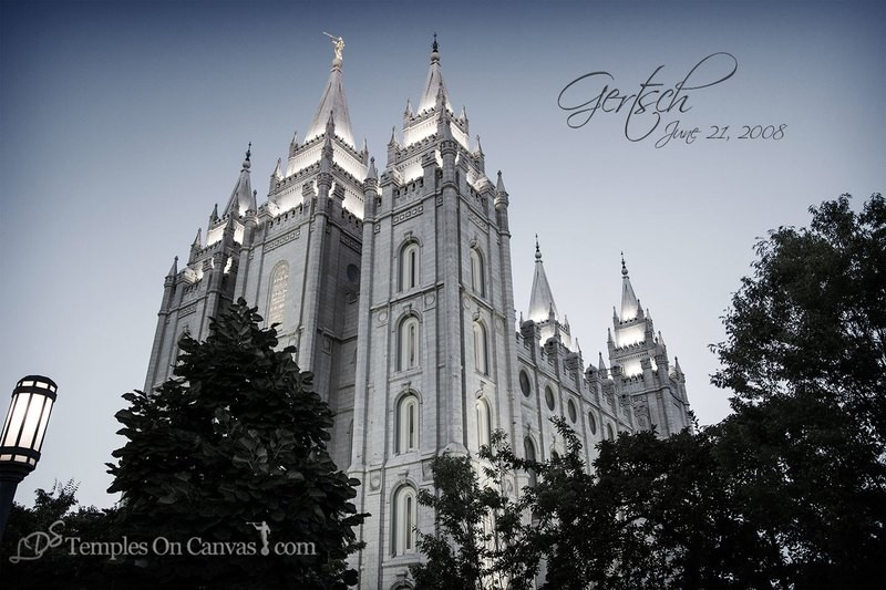 Salt Lake City UT Temple Art - Out of Obscurity - Tinted Black & White