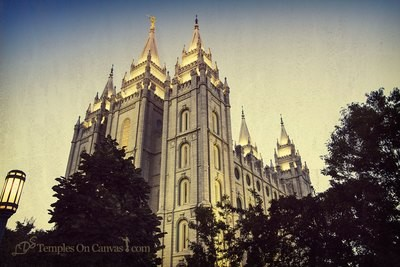 Salt Lake City UT Temple - Out of Obscurity - Vintage