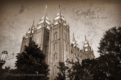 Salt Lake City UT Temple Art - Out of Obscurity - Rustic