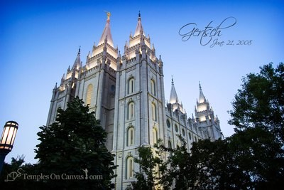 Salt Lake City UT Temple Art - Out of Obscurity
