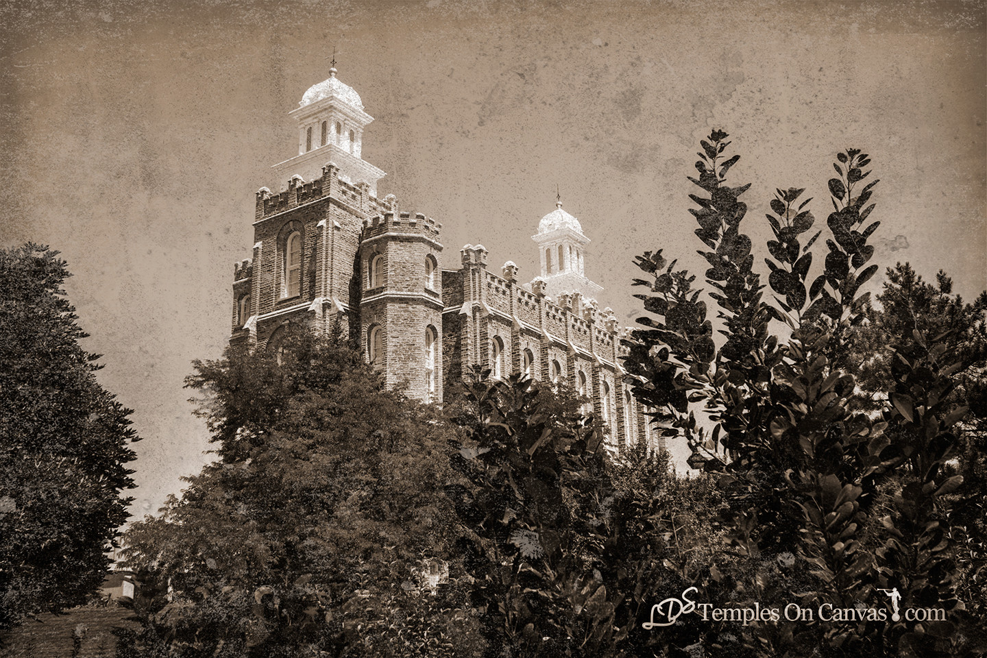 Logan Utah Temple - Beacon on the Hill - Rustic