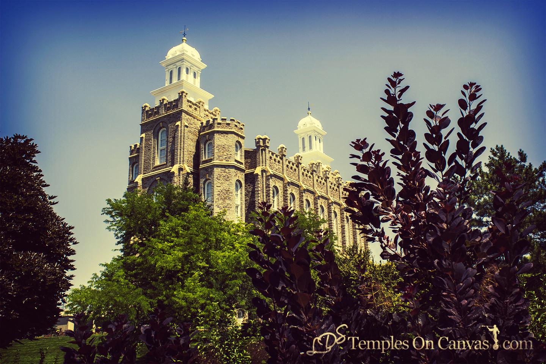 Logan Utah Temple - Beacon on the Hill - Vintage