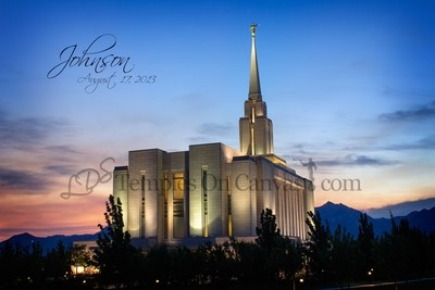 Oquirrh Mountain Utah Temple Art - Early Dawn