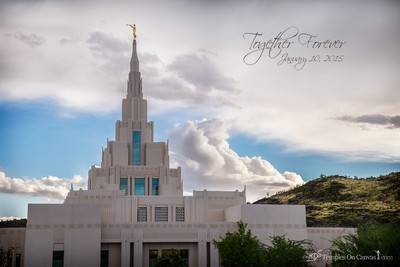 Phoenix AZ LDS Temple - Mountain of the Lord - Full Color Print