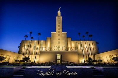 Los Angeles California LDS Temple - Eventide - Color