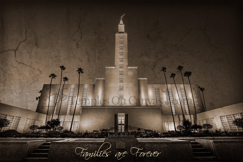 Los Angeles California LDS Temple - Eventide - Rustic