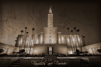 Los Angeles California LDS Temple - Eventide - Rustic