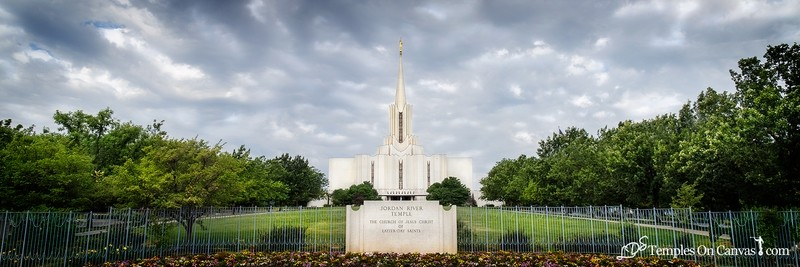 Jordan River Utah LDS Temple - Tempest - Full Color