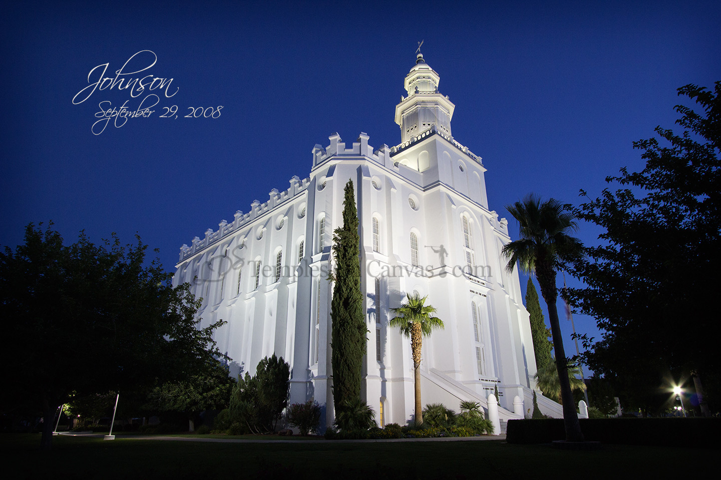 St. George UT Temple Art - Summer Evening