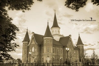 Provo City Center Utah LDS Temple - Eastward - Sepia