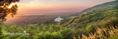 Bountiful Utah LDS Temple - Summer Sunset - Color - Panoramic