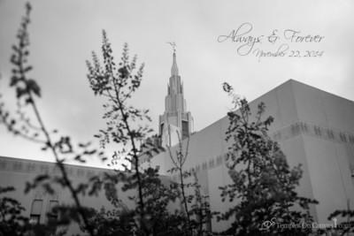 Phoenix AZ LDS Temple - Desert Blossom - Black & White Print