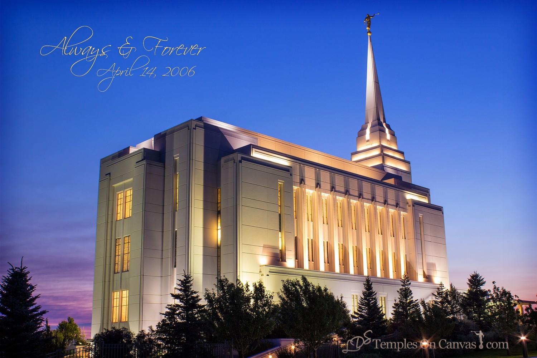 Rexburg ID Temple Art - Light on the Hill