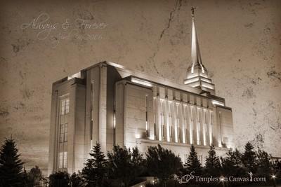 Rexburg Idaho Temple - Light on the Hill - Rustic