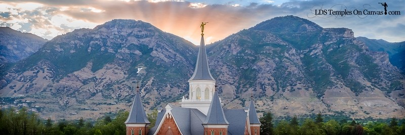 Provo City Center Utah LDS Temple - Midst of Heaaven - Color - Panoramic