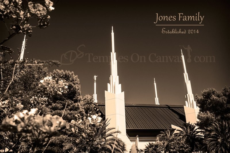 Las Vegas Nevada Temple Art - Desert Flower - Sepia