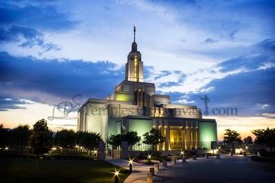 Draper UT Temple Art - Blue Sunset