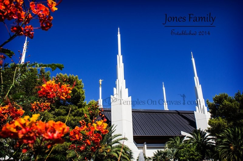 Las Vegas Nevada Temple Art - Desert Flower