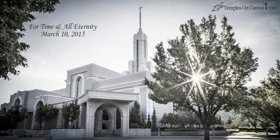Timpanogas Utah LDS Temple - Summer Sunbeam - Tinted Black & White Print